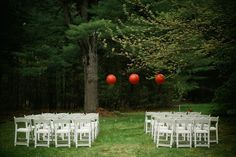 Charis and Aram's DIY Backyard Massachusetts Wedding. Photo Source Katie Slater
