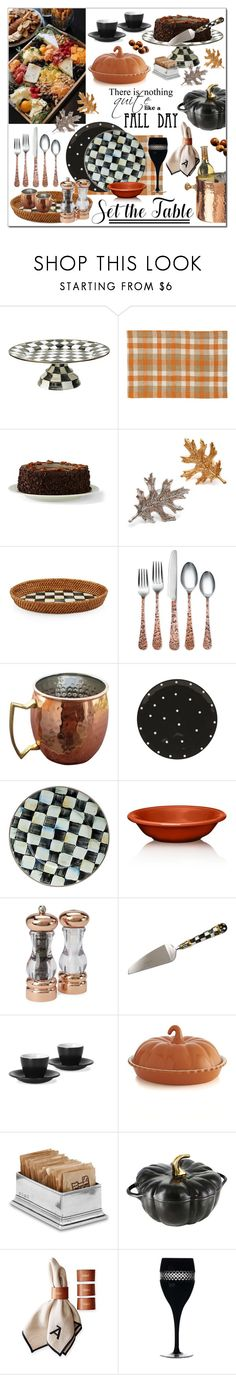 """""""Set The Table"""" by calamity-jane-always ❤ liked on Polyvore featuring interior, interiors, interior design, home, home decor, interior decorating, MacKenzie-Childs, Old Dutch, C & F and Lands' End"""