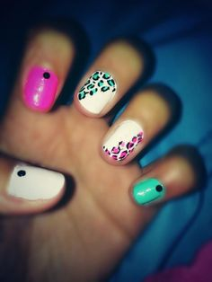 White with leopard print colorful