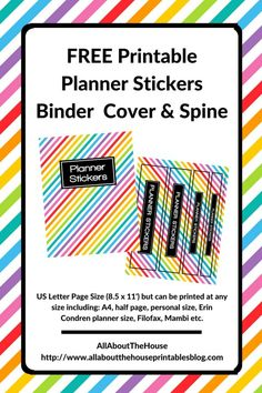 free printable planner stickers binder cover and spine how to organize planner stickers free planner stickers rainbow functional Calendar Stickers, Printable Planner Stickers, Free Printables, Binder Spine Labels, Planner Organization, Classroom Organisation, Office Organization, Classroom Ideas, Free Planner
