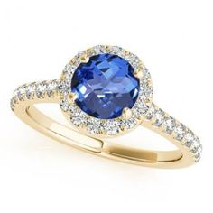 .78ct Round Tanzanite Ring With .28ctw Diamonds in 14k Yellow Gold available for just $987.99.
