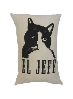"""Hand Printed on Upcycled Fabric """"Put A Bird On It"""" Original Design Hand Sewn Pillow with Dried Lavender Flowers in the Stuffing #mybabyboy #tuxedocat #eljefe #mylove #jeffersonbrooklyn #catsoftwitter #cat #crazycatlady #cats"""
