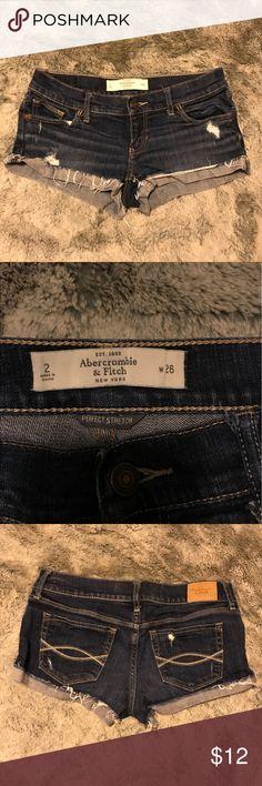 Abercrombie & Fitch denim shorts Used denim shorts Abercrombie & Fitch Shorts Jean Shorts