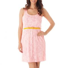 Lace Dress with Contrast Belt - great price!
