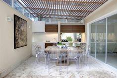 Espaço Gourmet - Ville Bosquée: Salas de jantar Moderno por Aonze Arquitetura