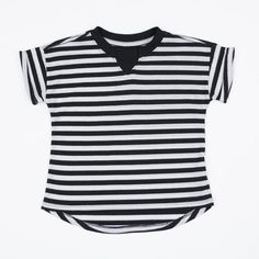 The oversized tee features our signature rib inset that makes it easy to get this shirt over your little one's melon. #madeintheusa #madeincalifornia