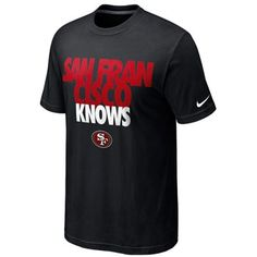 Nike San Francisco 49ers Knows Draft T-Shirt - Black