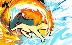 Quilava used Flame Wheel! It took about an hour on PaintTool SAI using a Wacom Bamboo . Fire Pokemon, Pokemon Fan Art, My Pokemon, Cool Pokemon, Pikachu, Pokemon Fusion, Deviantart Pokemon, Otaku, Pokemon Pictures