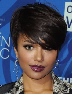 African American Short Hairstyles this really is a beautiful hair style. Side Bang Haircuts, Short Pixie Haircuts, Haircuts With Bangs, Pixie Hairstyles, Short Hairstyles For Women, Black Hairstyles, Relaxed Hairstyles, Hairstyles Haircuts, Short Thin Hair