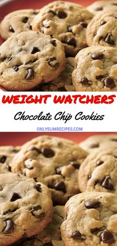 New Weight Watchers Desserts Cookies Chocolate Chips Ideas Heart Healthy Desserts, Healthy Cookie Recipes, Ww Desserts, Healthy Cookies, Ww Recipes, Cookie Desserts, Healthy Heart, Healthy Snacks, Recipies