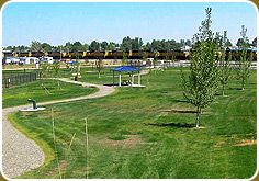 The Nampa Dog Park provides a safe place for people and their dogs to exercise and socialize. The six-acre park offers off-leash play areas for dogs of all sizes. Separate areas are available for large and small or older dogs.