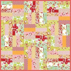 """Jelly Roll Jam      Free Pattern Uses 1 jelly roll = 2) 36"""" x 36"""" quilt tops You Tube tutorial also.... A shortcut quilt series"""