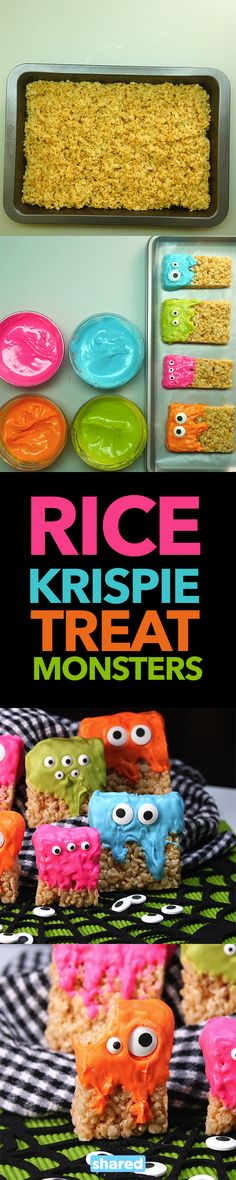 Rice Krispie Treat Monsters