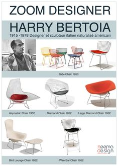 Harry Bertoia - icons of the 20th Century http://decdesignecasa.blogspot.it