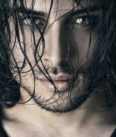 I'm a sucker for dark hair and killer blue eyes. Beautiful Eyes, Gorgeous Men, Beautiful People, Hello Gorgeous, Black Dagger Brotherhood, Marlon Teixeira, Fire Heart, Male Face, Good Looking Men