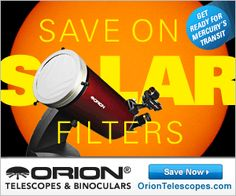 Orion's Solar Center Community LIVE NOW! Orion is counting down the days to the USA Solar Eclipse of 2017 and are helping you get ready for the event by launching our Solar Center Community! Orion Telescopes, Astronomy, Binoculars, Solar, Sun
