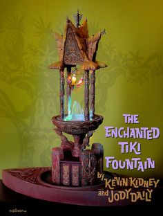 Disneyland Enchanted Tiki Fountain, by Kevin Kidney and Jody Daily. We have one of these, produced for the Enchanted Tiki Room's 45th anniversary.