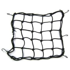 KLOUD City Premium Bungie Bike Bicycle Bungee Cargo Net with 6 Hooks. Heavy-duty bungee-cord net for securing gear on motorcycle,snowmobile or bike. Great for carrying odd shaped items. Elastic material stretches over most items.