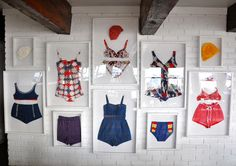 framed garments. I want to do this with stoles & shawls...