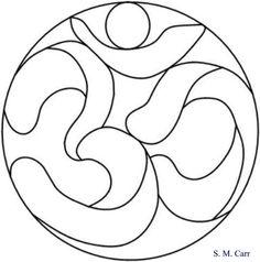 Om circle -- original pattern