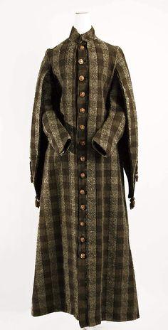 Wool and silk coat ca. 1883
