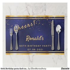 Shop Birthday party dark navy blue gold monogram Paper Placemat created by EllenMariesParty. 30th Birthday Party For Her, Blue Birthday Parties, 80th Birthday, Birthday Beer, Birthday Cakes, Dark Navy Blue, Blue Gold, Graduation Party Decor, College Graduation