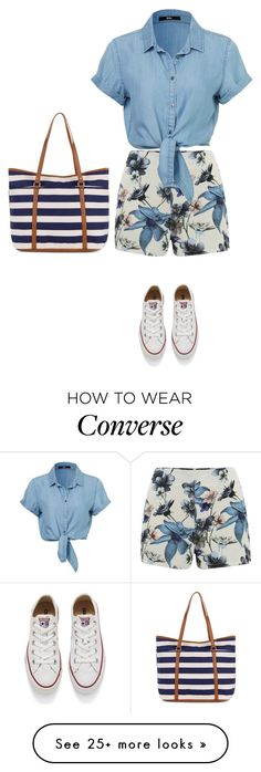 """Untitled #4108"" by linda56draco on Polyvore featuring ONLY, Converse, Accessorize, women's clothing, women, female, woman, misses and juniors"