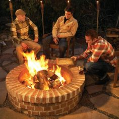 Build a DIY fire pit for not much more than a store-bought fire ring. With tips from a veteran bricklayer. Here's how to make a DIY fire pit. Fire Pit Base, Easy Fire Pit, How To Build A Fire Pit, Cool Fire Pits, Brick Fire Pits, Backyard Projects, Outdoor Projects, Backyard Ideas, Firepit Ideas