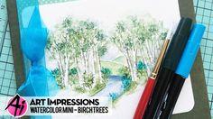 Ai Watercolor – Birch Trees