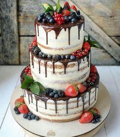 Torte – Wedding Cakes With Cupcakes Wedding Cake Centerpieces, Fall Wedding Cakes, Wedding Cakes With Cupcakes, Beautiful Wedding Cakes, Wedding Cake Designs, Cupcake Cakes, Fruit Wedding Cake, Cake Fondant, Cake Icing