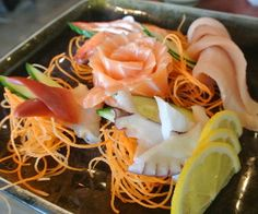Sashimi with Carrot and Soy sauce Recipe