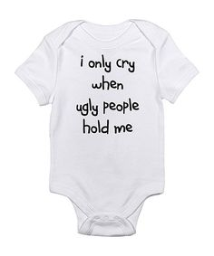 With the hilarious graphic on this fun bodysuit, Baby is sure to garner laughs and cheers even while in the midst of making a mess. Even better, the comfy lap neck and snaps on bottom allow little ones to be changed with ease.100% cottonMachine wash; tumble dryImported
