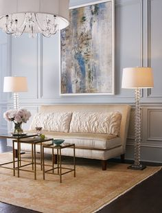 From simple crown molding to elaborate wainscoting, molding completely transforms the look of a living room.