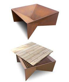 plodes geometric metal fire pit dwr - Trendir