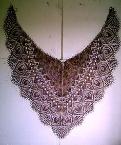 Beautiful lace shawl.                                                                                                                                                                                 More
