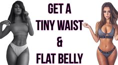 How To Get A Tiny Waist and Flat Belly | 4 Workouts For A Smaller Waist!