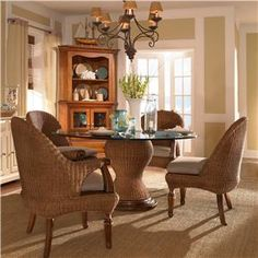 Charmant American Journal Natural Seagrass Dining Set By Kincaid Furniture    Riverview Galleries   Dining 5 Piece Set Furniture Store NC By Riverview  Galleries ...