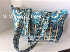 Bolso de viaje - 2da Parte Tutorial - HTM - YouTube Hand Lettering Alphabet, Diaper Bag, Htm, Stitching, Bags, Youtube, Shopping, Fabric Handbags, Fabrics