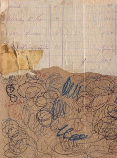Fusion Series #3552 - Collage with antique papers by Cecil Touchon - 2014