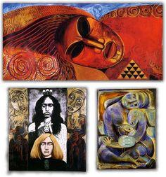 Robyn Kahukiwa Polynesian Art, Maori Designs, New Zealand Art, Nz Art, Maori Art, Kiwiana, Mural Wall Art, Indigenous Art, Art And Technology