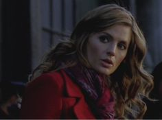 "Stana Katic as Kate Beckett in Castle Season 5 Episode 15 ""Target"""