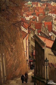 Ancient Street, Prague, Czech Republic, photo via whisperingwillow
