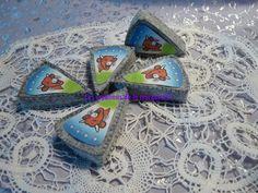 Parts de fromage fondu en feutrine : Jeux, jouets par lescreationsdelamarquise51