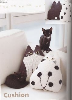 Жилетка, шапка и диванные подушки в кошачьей теме. Обсуждение на LiveInternet - Российский Сервис Онлайн-Дневников