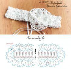 Вяжем ажурную повязку с эластичным креплением на резинке #diy #tutorial #crochet