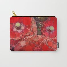 carry all pouch, art supply bag, makeup case, cosmetic bag, coin purse
