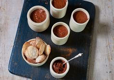 Chocolate mousse with madeleines | James Martin Chef