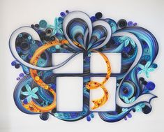 Handmade paper quilling Gift Box framed in shadow by SinyeeCraft
