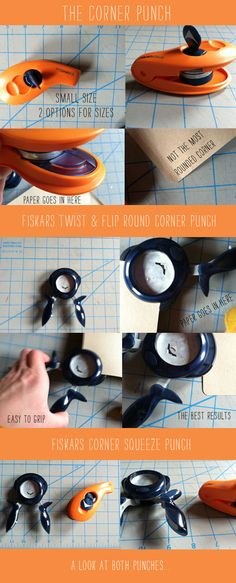 Fiskars Corner Squeeze Punch for rounded paper edges