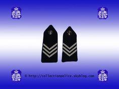 Epaulettes d'agent brigadier principal. Ces épaulettes étaient portées sur les vareuse. © Le texte et la photo sont protégés par un copyright. ---------------------------- Epauletten van hoofdbriga...